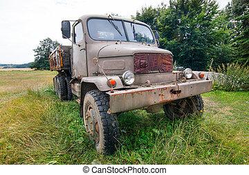 antigas, praga, v3s, terreno, caminhão