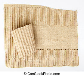 antigas, rasgado, papelão, papel, com, copy-space