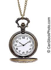 antigas, relógio bolso, com, corrente