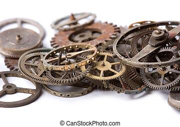antigas, relógio, partes