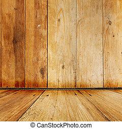 antigas, sala, com, gasto, papel parede, e, anterior, beleza