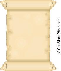 antigas, scroll papel