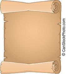 antigas, scroll, tema, imagem, 3
