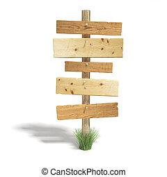 antigas, sinal madeira, poste
