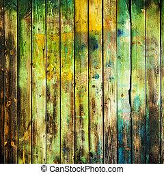 antigas, sujo, madeira, fundo