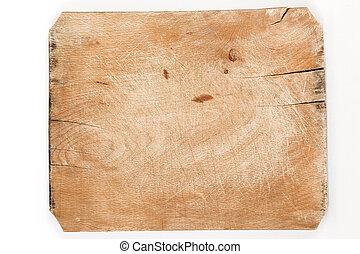 antigas, tábua madeira, com, rachas