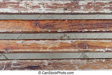 antigas, textura, prancha, madeira, madeira, resistido, naturally, sujo, placas, experiência.