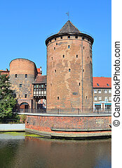 antigas, torre, em, gdansk