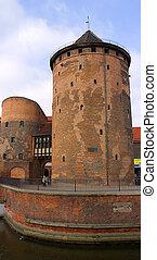 antigas, torre, em, gdansk, polônia