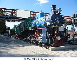 antigas, trem, locomotiva
