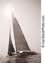 antigas, velejando, tempo