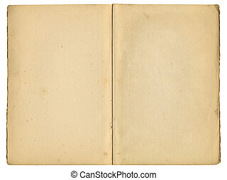 antigas, vindima, sobre, livro, isolado, páginas, white., dentro