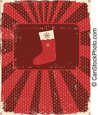 antigas, vindima, textura, papel, desenho, cartão natal