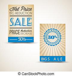 antigas, vindima, venda, retro, cartões, grunge