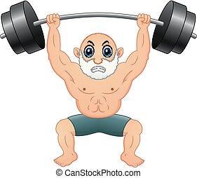 antigas, weightlifting, homem