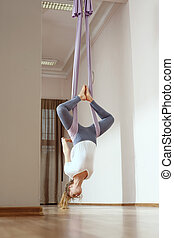 Antigravity yoga.