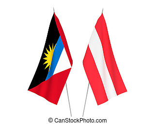 Antigua and Barbuda and Austria flags - National fabric ...
