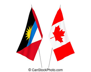 Antigua and Barbuda and Canada flags - National fabric flags...