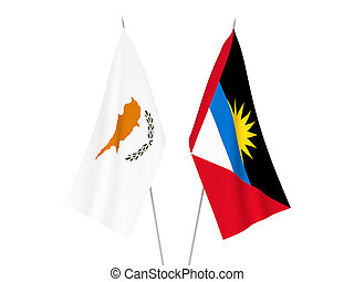 Antigua and Barbuda and Cyprus flags - National fabric flags...