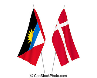 Antigua and Barbuda and Denmark flags - National fabric ...