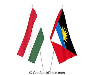 Antigua and Barbuda and Hungary flags - National fabric ...