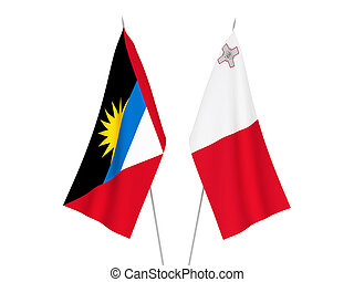Antigua and Barbuda and Malta flags - National fabric flags ...