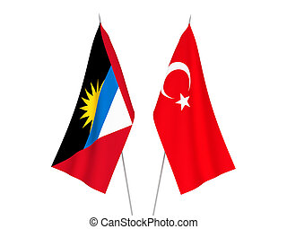 Antigua and Barbuda and Turkey flags - National fabric flags...