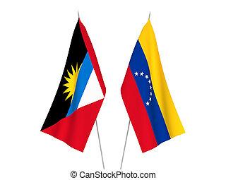 Antigua and Barbuda and Venezuela flags - National fabric ...