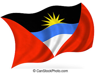 Antigua-And-Barbuda - Antigua And Barbuda flag, isolated