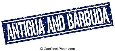 Antigua And Barbuda blue square stamp