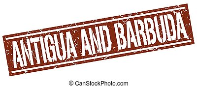 Antigua And Barbuda brown square stamp