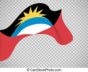 Antigua and Barbuda flag on transparent background. Vector...