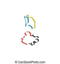 antigua and barbuda icon vector