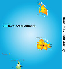 Antigua and Barbuda - Vector color map of Antigua and...
