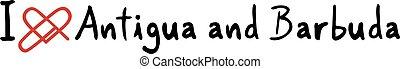 Antigua and Barbuda love message - Creative design of...