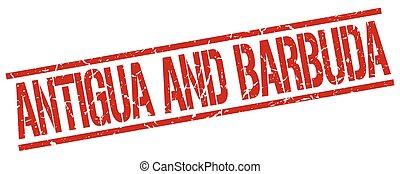 Antigua And Barbuda red square stamp