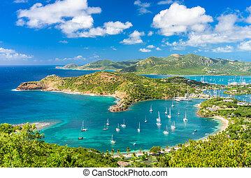Antigua and Barbuda - Shirley Heights, Antigua view.