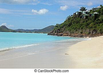 Antigua beach - Landscape of tropical beach