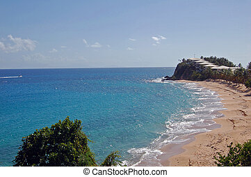 view of hotel resort on antigua beach