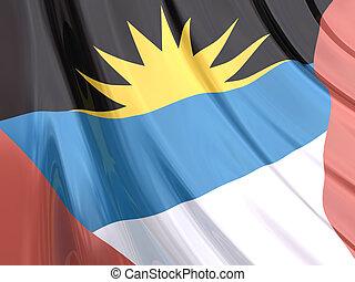 antigua i barbuda, bandera