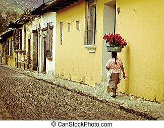 antigua - cobble streets antigua guatamala