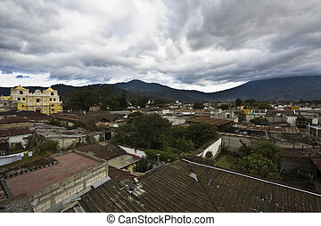 Antigua - skyline - Skyline of Antigua, Guatemala.