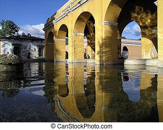antigua  - arch in antigua guatamal