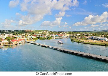 Antigua views 10 - View of St. John the capital of Antigua