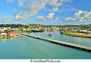 Antigua views 11 - View of St. John the capital of Antigua