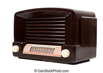 Antigue Radio - A vintage antique radio on a white...