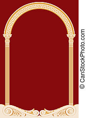 antiguo, arco, ilustración