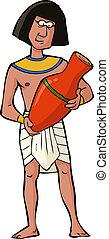 antiguo, artesano, egipcio