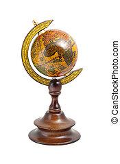 antiguo, de madera, globo