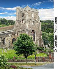 antiguo, iglesia de la parroquia, hasting